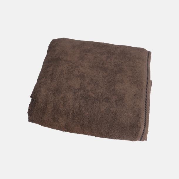 Chokladbrun Bomullshanddukar i 3 storlekar med reklambrodyr