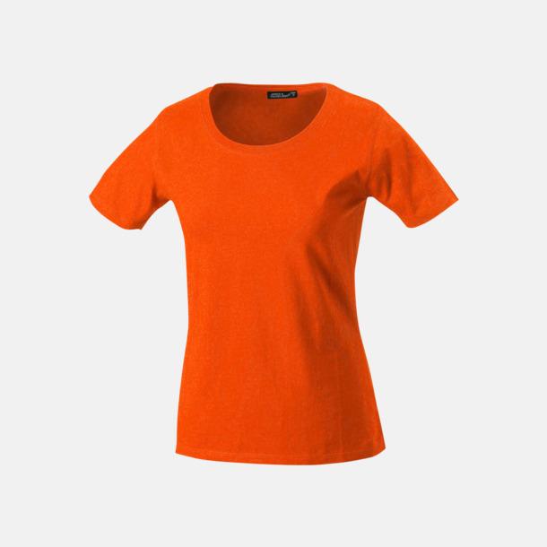 Mörkorange T-shirtar av kvalitetsbomull med eget tryck
