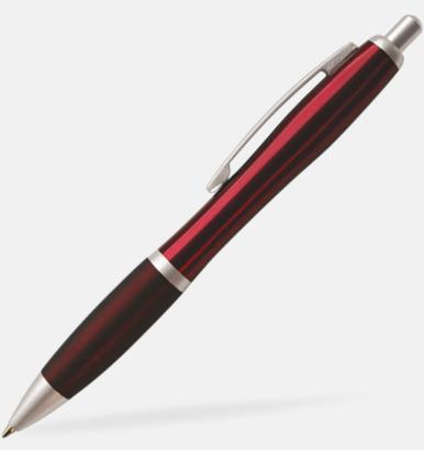 Röd Metallpenna med vacker form
