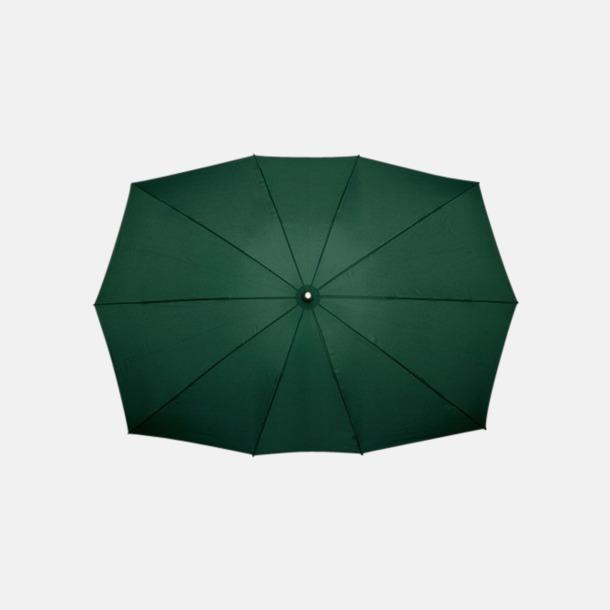 Grön (PMS 5535C) Tvillingparaply med eget reklamtryck