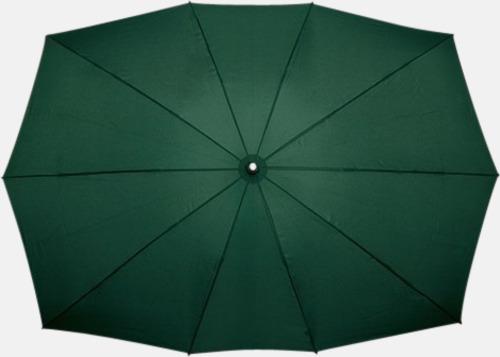 Grön (PMS 5535C) Tvillingparaply med eget tryck