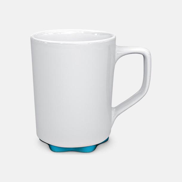 Vit/Ljusblå Stengodskoppar i modern design