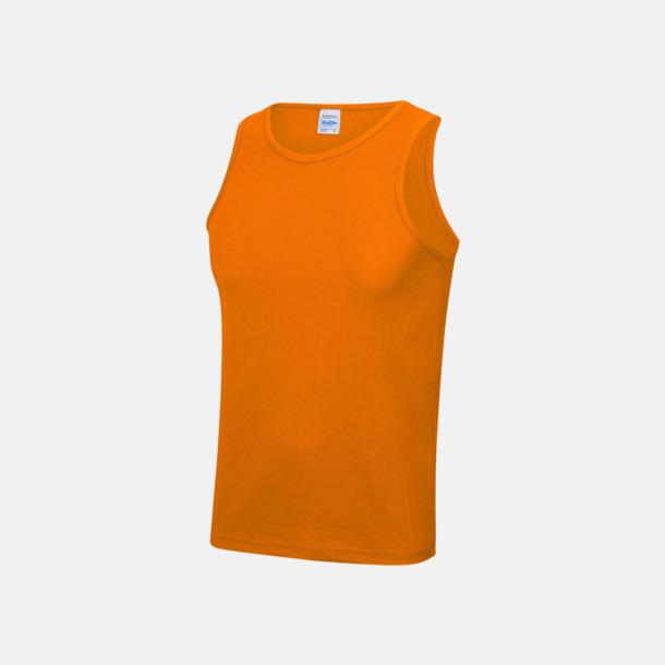 Orange Crush (unisex) Enfärgade funktionslinnen i unisex-, dam & barnmodell med reklamtryck