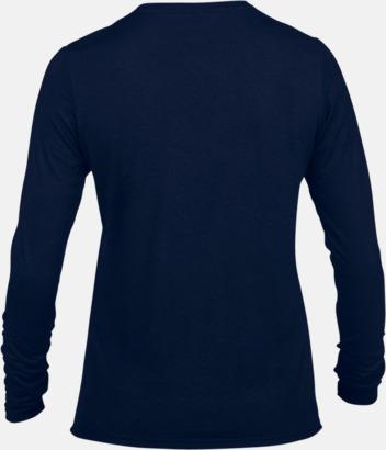 Dam (3) Långärmade funktionströjor för vuxna och barn med reklamtryck