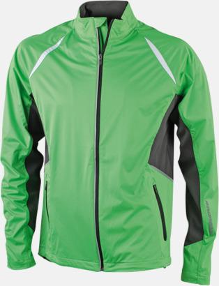 Grön/Carnbon Vindtäta jackor med eget tryck