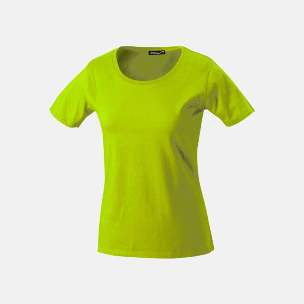 Acid Yellow T-shirtar av kvalitetsbomull med eget tryck