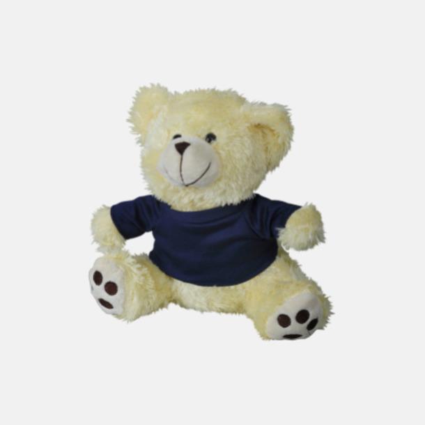 Écru/marinblå Mjuk nallebjörn med eget tryck