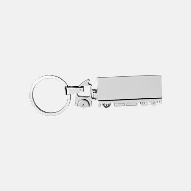 Silver Nyckelring i form av en långtradare med egen gravyr