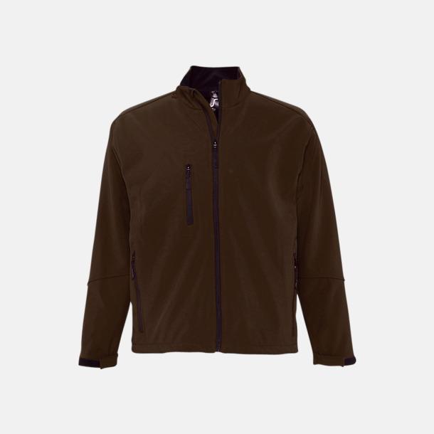 Dark Chocolate (herr) Softshell jackor i herr- & dammodell med reklamtryck