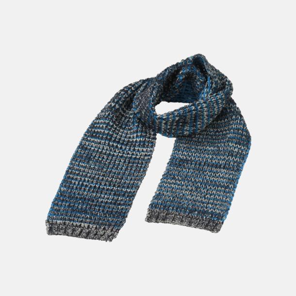 Marinblå/Melange/Azure Extra långa halsdukar med reklambrodyr