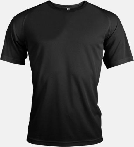 Svart Sport t-shirts i många färger för herrar - med reklamtryck