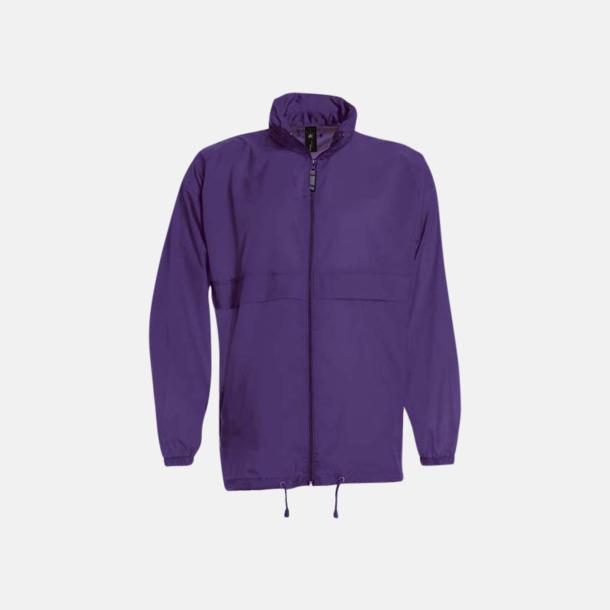 Lila (unisex) Vind- och vattentäta jackor för dam, herr och barn - med tryck