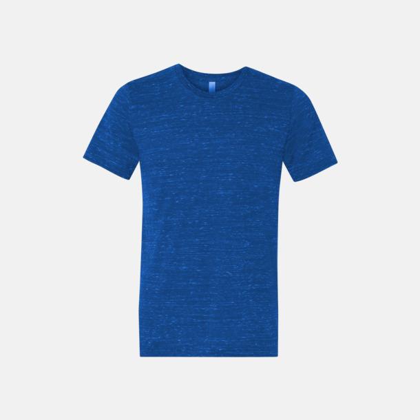 Marble True Royal (heather) Unisex t-shirts i spräckliga färger med reklamtryck