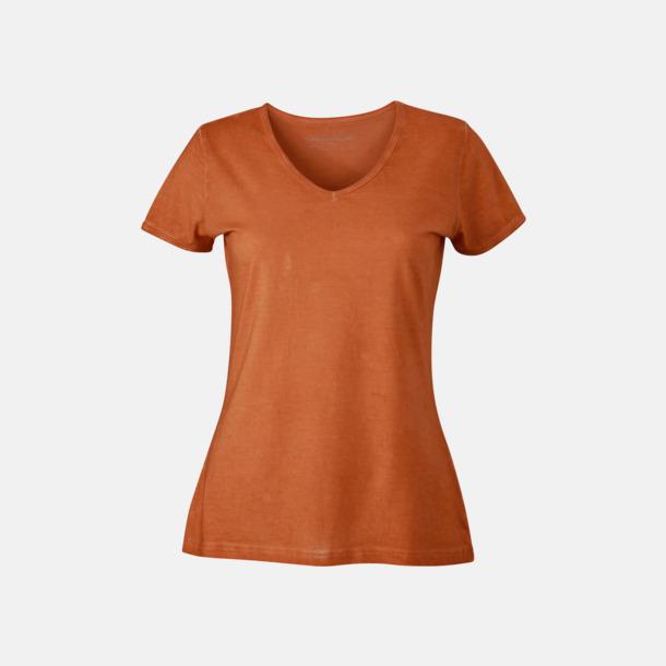 Terra (dam) Trendiga v-neck t-shirts i herr- och dammodell med reklamtryck