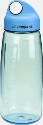 Ljusblå Sportig vattenflaska med eget tryck