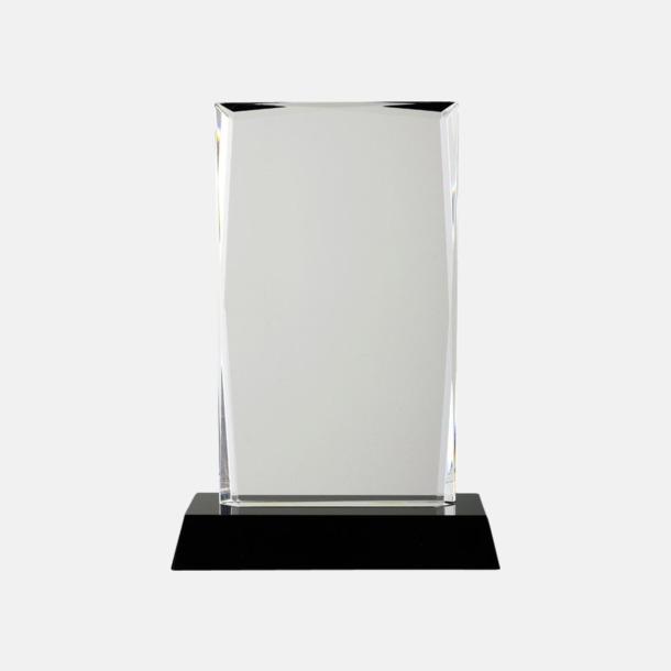Transparent Kristalltroféer i två storlekar med reklamtryck
