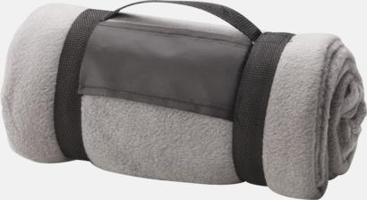 Ljusgrå Billiga fleecefiltar med tryck