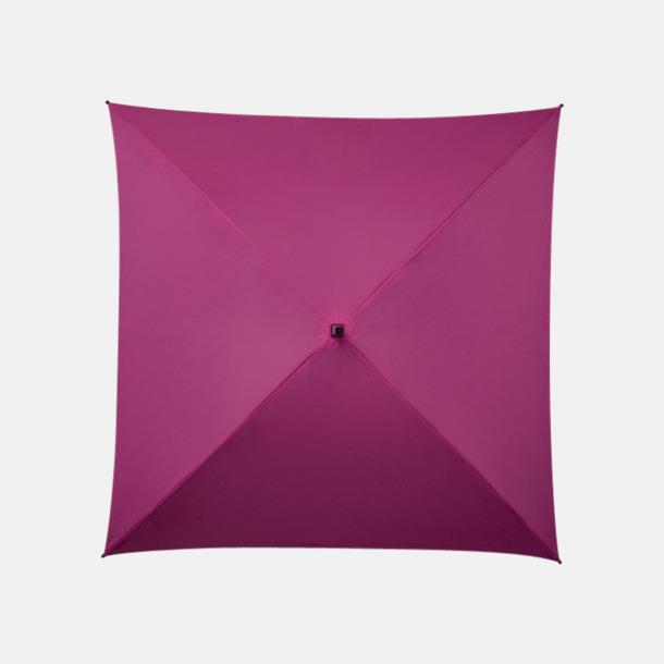 Rosa (PMS  233C)  Fyrkantiga Paraplyer med eget tryck