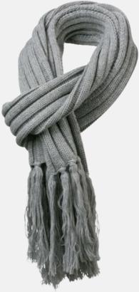Light Grey Melange Halsdukar med egen logga
