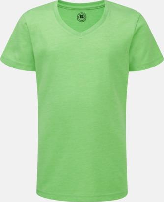 Green Marl (v-neck flicka) Barn t-shirts i u- och v-hals med reklamtryck