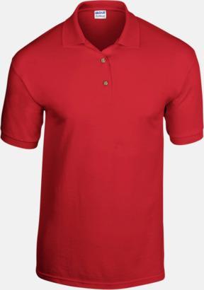 Röd Billiga herrpikétröjor med tryck