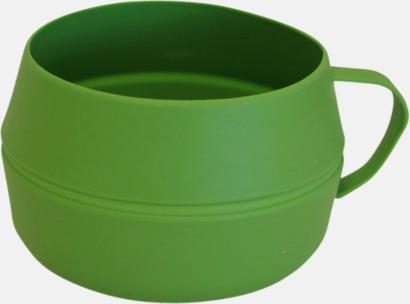 Grön Vikbar kåsa med eget reklamtryck