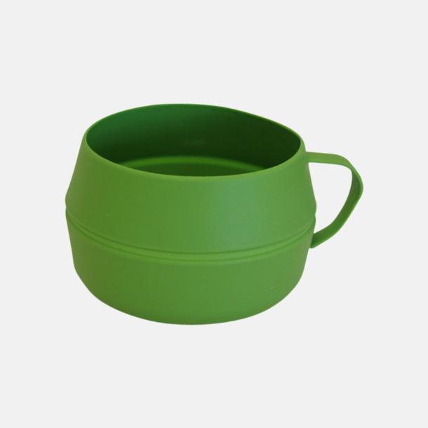 Ljusgrön Vikbar kåsa med eget reklamtryck