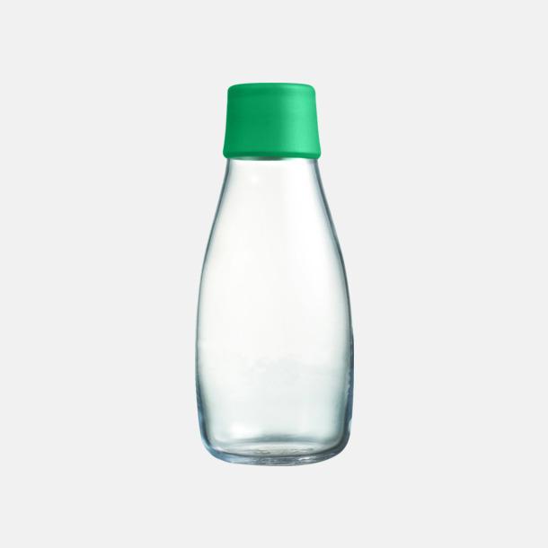 Strong Green Mindre vattenflaskor av glas med reklamtryck
