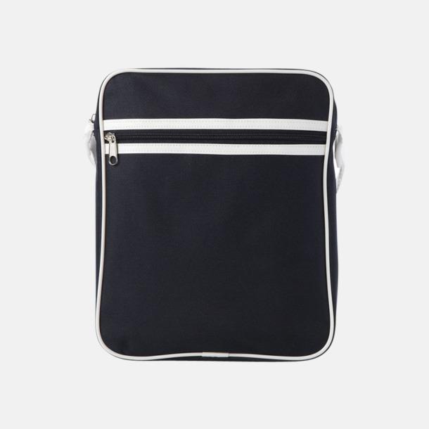 Marinblå Liten väska med retrokänsla - med reklamtryck