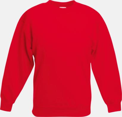 Röd Tjocktröjor för barn med reklamtryck