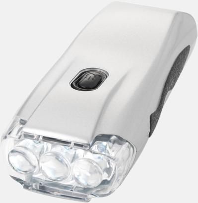 Silver Dynamisk ficklampa till bra priser med reklamtryck
