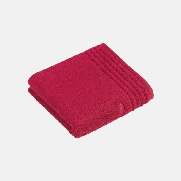 Cherry Red Handdukar i 3 storlekar med reklambrodyr