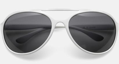 Vit Solglasögon med reklmtryck