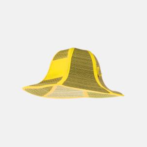Vikbara strandhattar med reklamtryck