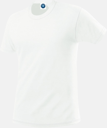 Vit (herr) Funktions t-shirts i herr- & dammodell med reklamtryck