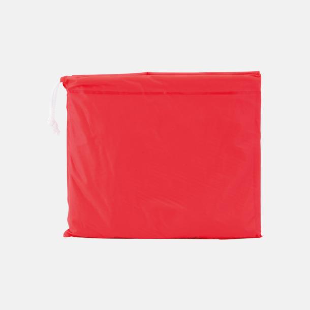 Röd Regnponchos för barn med reklamtryck