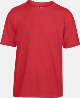 Röd Smarta funktionskläder för barn - med tryck
