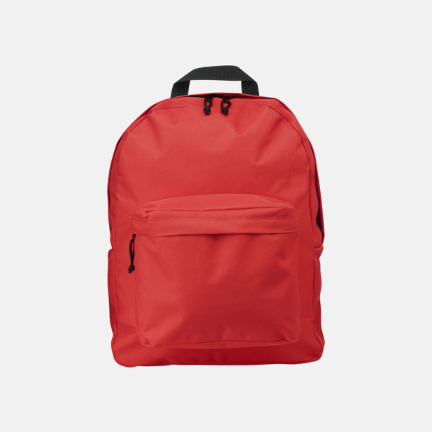 Röd Stilren och klassisk ryggsäck med reklamtryck