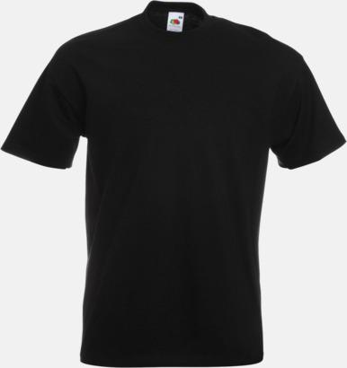 Black Kraftig t-shirt med reklamtryck