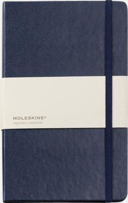 Indigo Blue (ruled) Moleskines mindre anteckningsböcker med linjerade eller rutade sidor - med reklamtryck