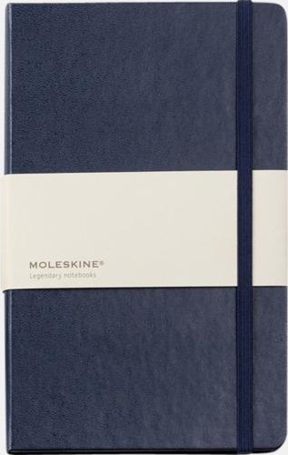 Marinblå (ruled) Moleskines mindre (ca A6) anteckningsböcker med linjerade eller rutade sidor - med reklamtryck