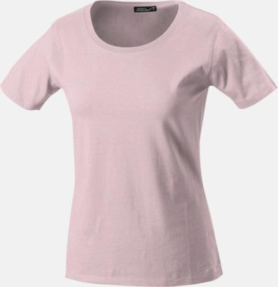 Rose T-shirtar av kvalitetsbomull med eget tryck