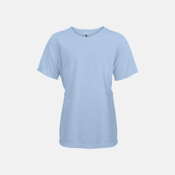 Sky Blue Funktions t-shirts i många färger för barn - med reklamtryck
