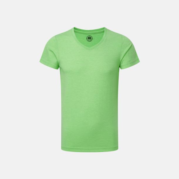 Green Marl (v-neck pojke) Barn t-shirts i u- och v-hals med reklamtryck