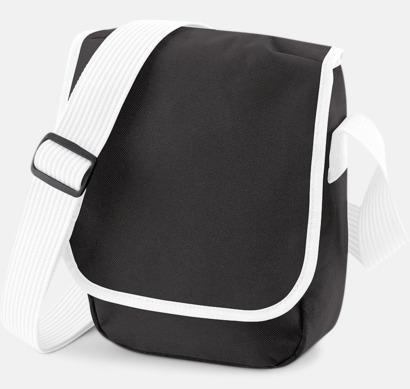 Svart/Vit Liten väska med eget reklamtryck