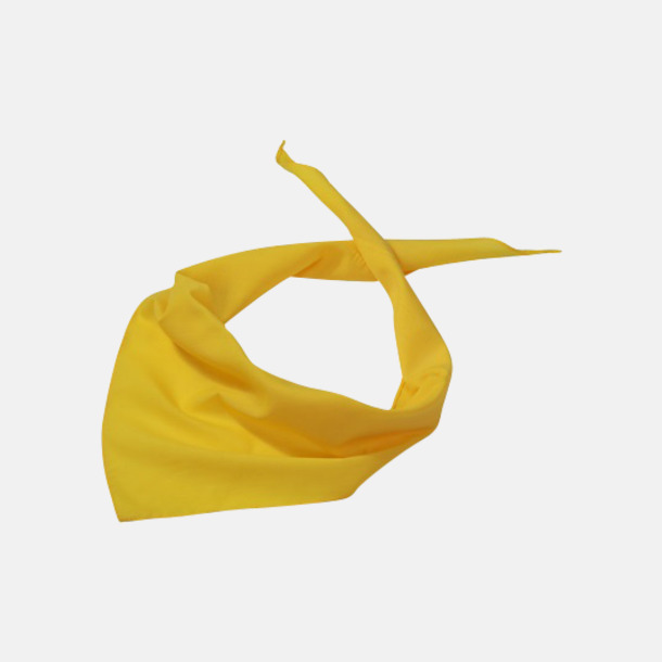 Sun Yellow Billiga scarfar med reklamtryck