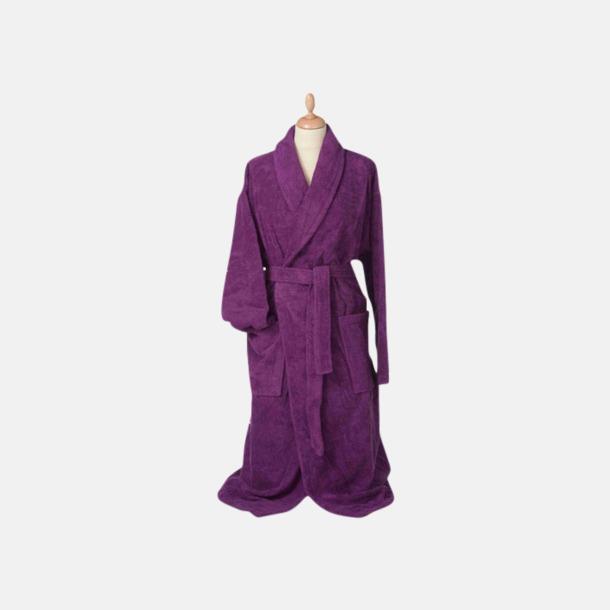 Aubergine (mörk) Färgglada badrockar med reklambrodyr