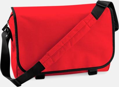 Bright Red/Svart Billiga väskor med reklamtryck