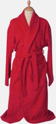 Fire Red Färgglada badrockar med brodyr