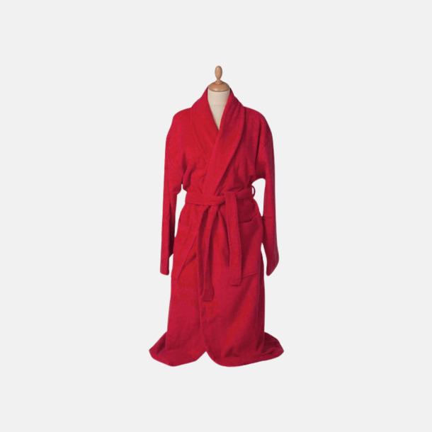 Fire Red (mörk) Färgglada badrockar med reklambrodyr